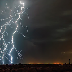Tagging Along by Scott Wood - Landscapes Weather ( lightning, monsoon, arizona, weather, storm chasing, storm )