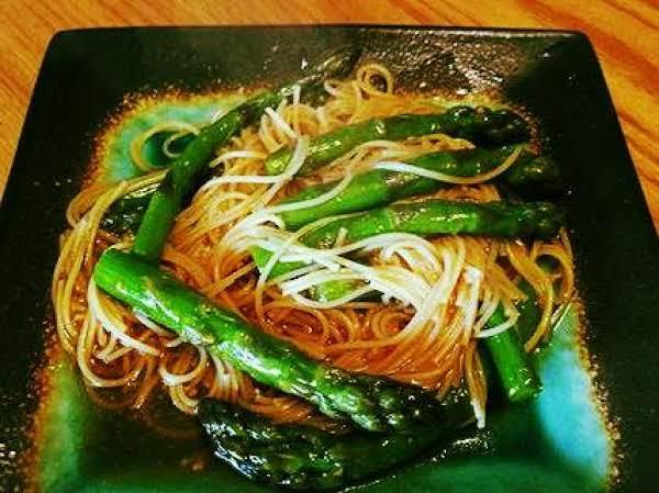 Asian Inspired Asparagus & Angel Hair Pasta Recipe