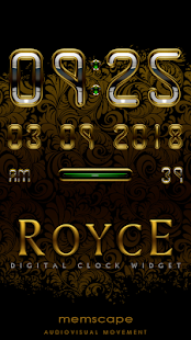 ROYCE Digital Clock Widget- screenshot thumbnail