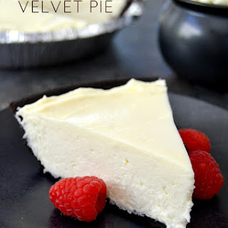 White Chocolate Velvet Pie