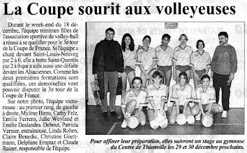 Photo: Coupe de France MF, l'ASVB qualifiée pour le 3è tour