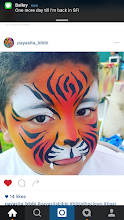 Photo: Tiger animal face painting design by Veronica aka Bibbi the Clown in Montclair, Ca. Call to book her today at 888-750-7024