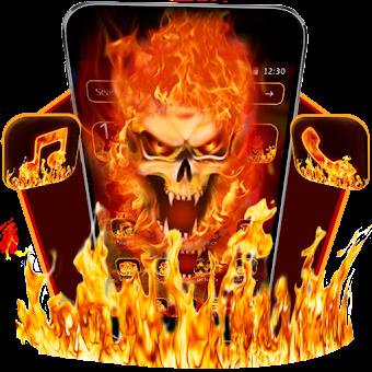 Lively Evil Fire Skull Theme