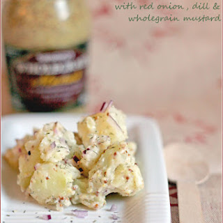 Warm Potato Salad With Red Onion, Dill And Wholegrain Mustard
