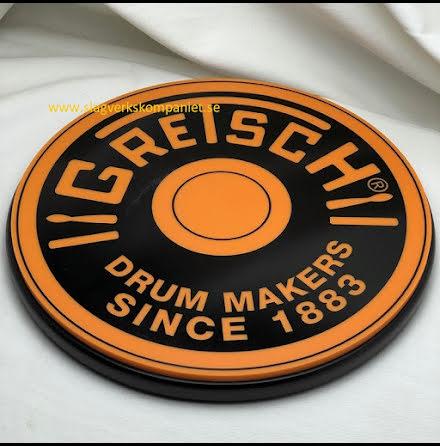 """12"""" Övningsplatta - GRETSCH - GREPAD12O. Färg: Orange"""