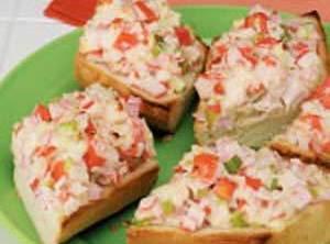 Open-faced Crab Salad Sandwiches Recipe