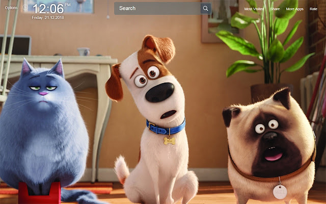 The Secret Life of Pets Wallpapers New Tab