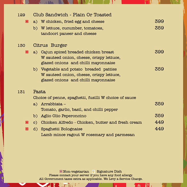 Citrus Cafe - Lemon Tree Hotel menu 23