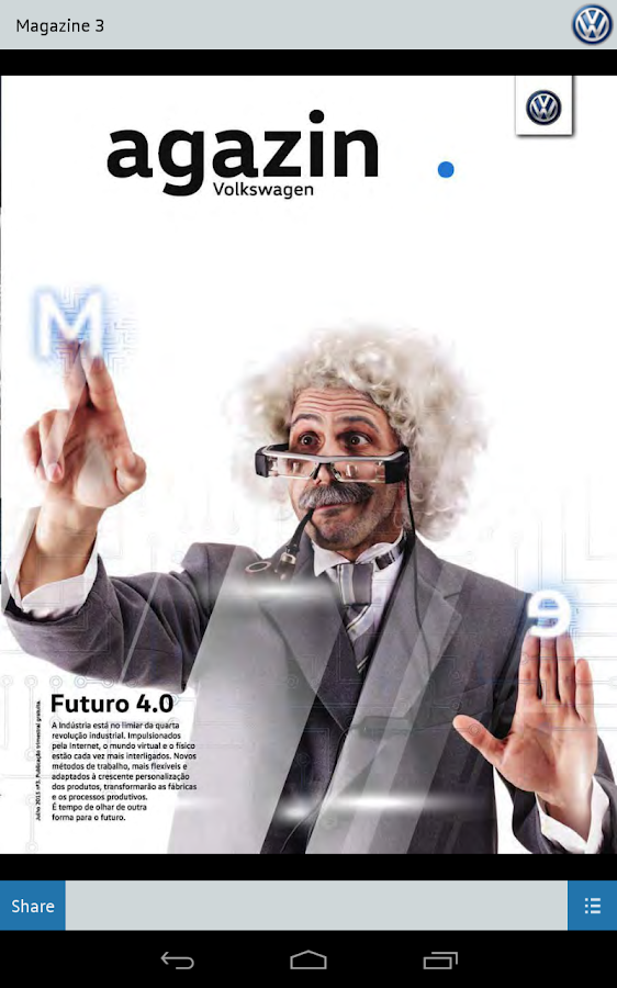 Volkswagen Magazine – Screenshot