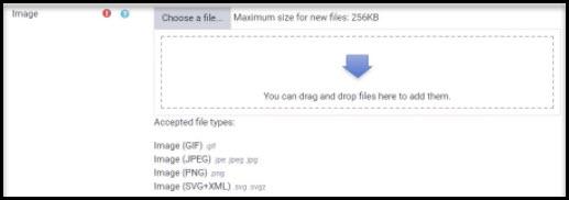 Screenshot of file drop for badges