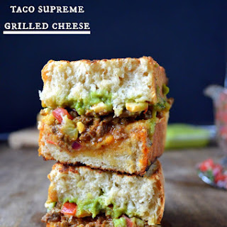 Taco Supreme Grilled Cheese