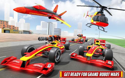 Helicopter Robot Transform: Formula Car Robot Game filehippodl screenshot 14