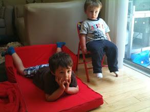Photo: Clark & Finn Watch TV