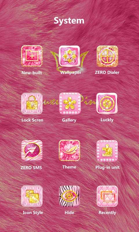 Screenshots of Luxury Pink Theme for iPhone