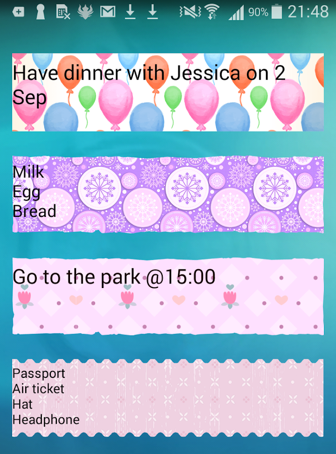 Sticky Memo Notepad *Dots*Lite- screenshot