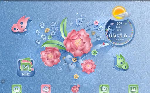 TSF NEXT ADW Nova LAUNCHER 3D PAPER FLOWERS THEME App Report