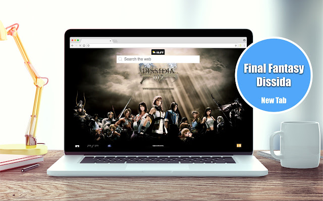Final Fantasy Dissida New Tab Theme