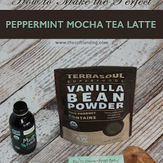 The Perfect Peppermint Mocha Tea Latte