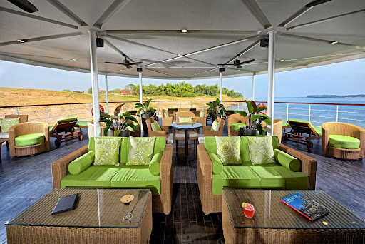 The Observation Lounge is the ideal spot for taking in the sights of Cambodia and Vietnam on Avalon Siem Reap.