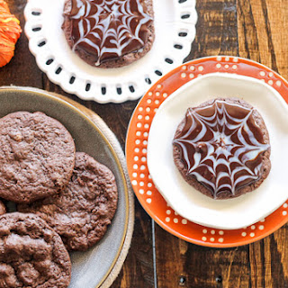 Ultimate Chocolate Spider Web Cookies