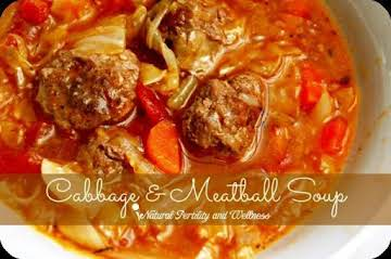 Irish Cabbage and meatball Stew