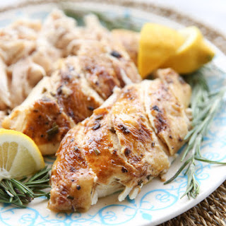 Pressure Cooker Whole Roasted Chicken with Lemon & Rosemary
