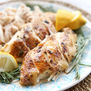 Pressure Cooker Whole Roasted Chicken with Lemon & Rosemary.