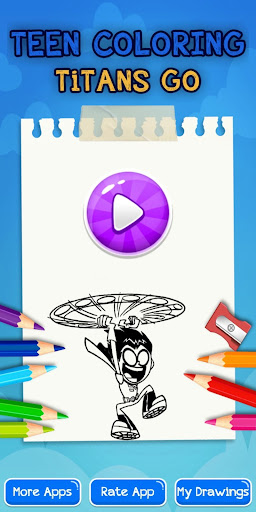 Teen Coloring Titans Go Screenshot