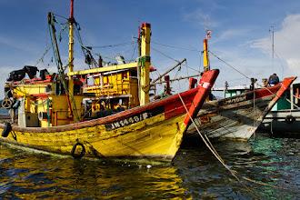 Photo: Fishing boats in the harbour at Kota Kinabalu, Borneo.
