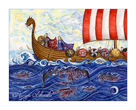 """Photo: """"Quest to the Unknown"""" - coloured inks + watercolours - 2011"""