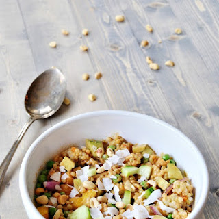Spicy Peanut Pearl Couscous Salad.