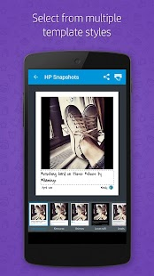HP Social Media Snapshots Screenshot