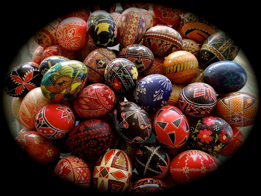 Easter in the Ukraine by Campbell McCubbin - Public Holidays Easter ( eggs, advent, patterns, easter, christmas, holiday, santa, pysanky, holidays, season, colorful, card, santa claus )