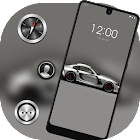 Cool Gray Sports Car theme icon