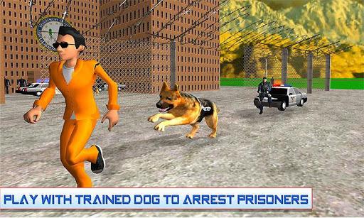 警察犬の囚人の脱出