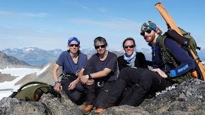 On the summit of Peak 1