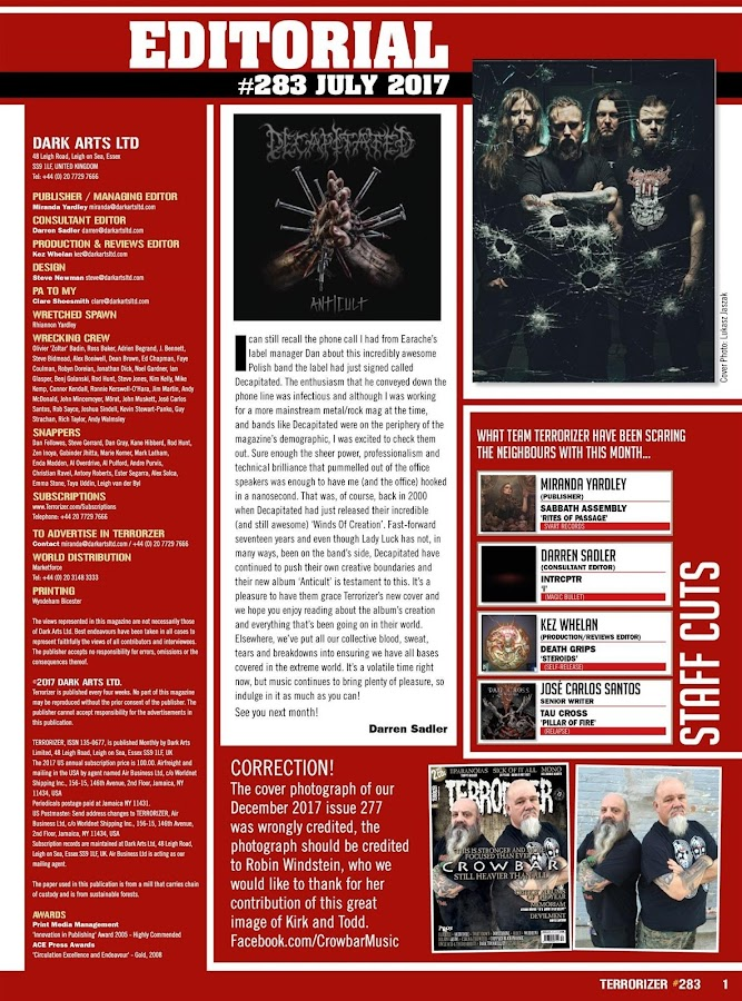 Terrorizer Magazine- screenshot