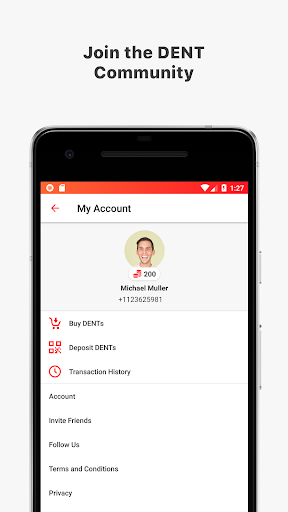 DENT - Send mobile data top-up 1.3.3 app 3