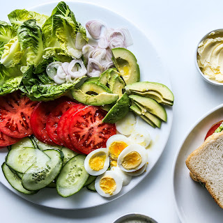 Salad Sandwiches with Ranch Spread