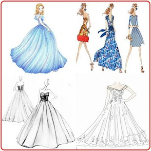 Fashion designing sketches dresses 2018