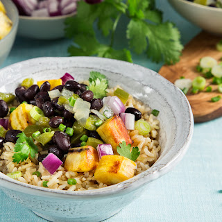 Cuban-Style Black Beans with Rice and Plantains Recipe