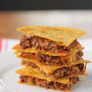 Bacon BBQ Cheeseburger Quesadillas.