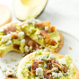 Avocado on Toast with Bacon and Blue Cheese.