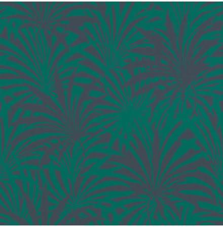 Rasch Vanity Fair 525946 Tapet med palmblad, Grön/Blå