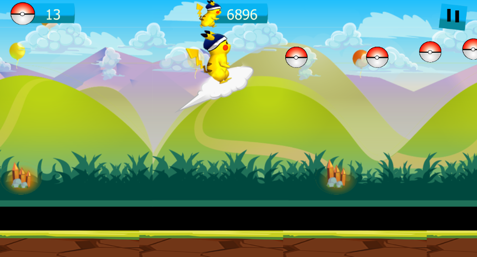 Super Pikachu adventure game- screenshot