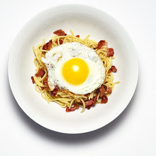 Spaghetti with Bacon, Pecorino, and Fried Egg.