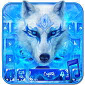 Blue Ice Wolf - Music Keyboard Theme