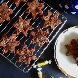 Caramel Brownie Snowflakes with Sea Salt