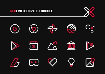 RedLine Icon Pack : LineX 2