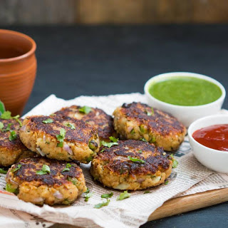 Green Peas, Potato and Paneer Tikki